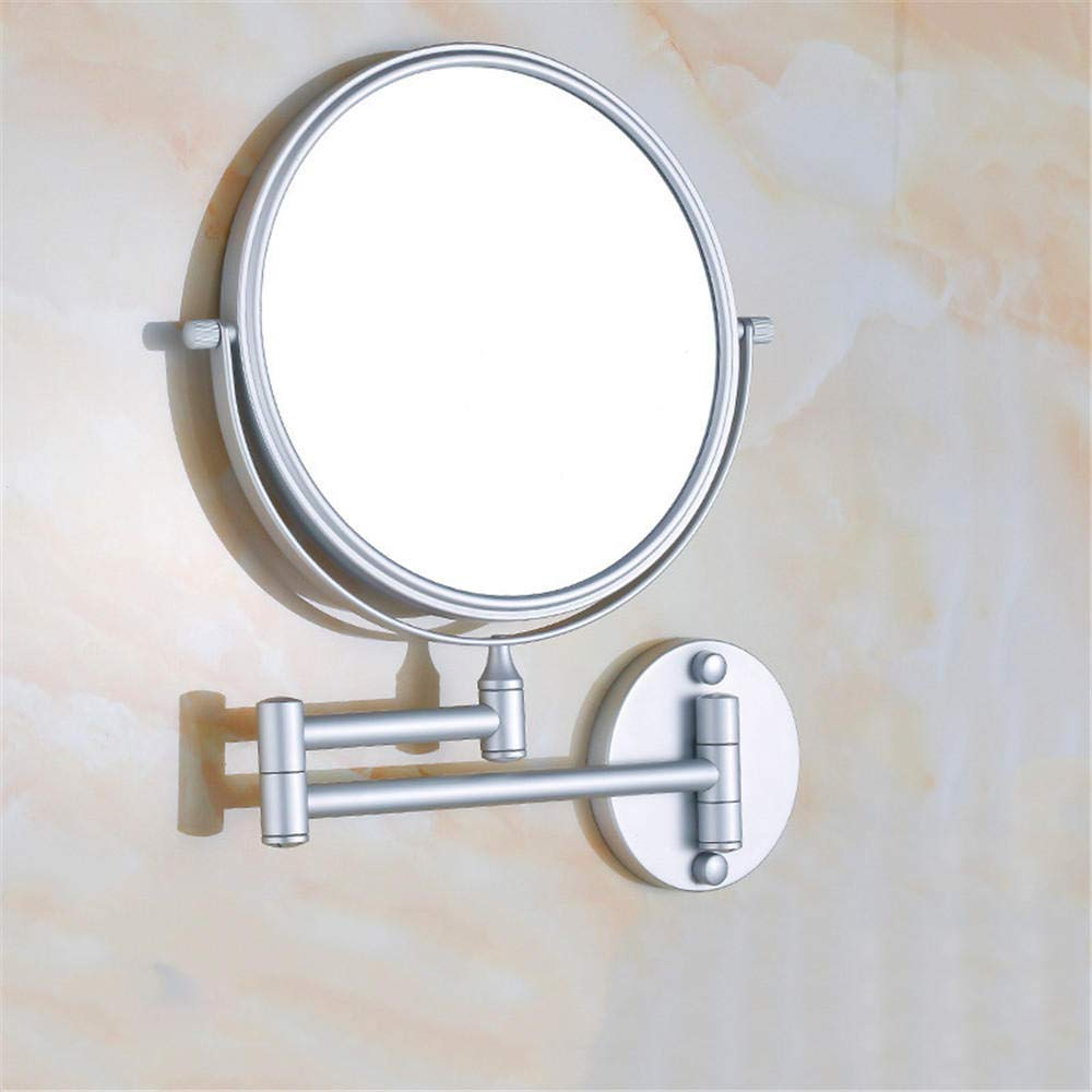 Bathroom Telescopic Mirror Folding Toilet Mirror Wall Mirror Bathroom Magnifier@Matt