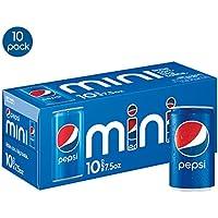 10-Pack Pepsi 7.5 Ounce Mini Cans Soda