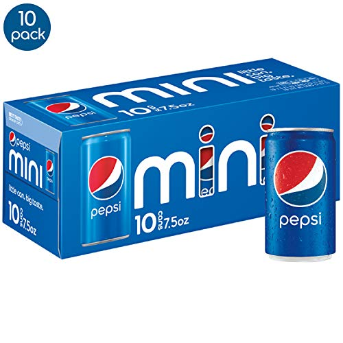(Pepsi Soda, 7.5 Ounce Mini Cans, 10 Pack)