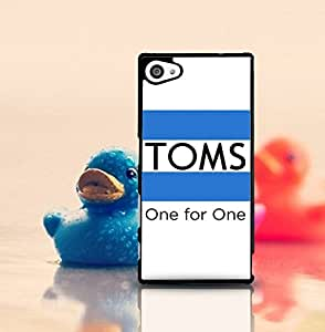 Personalized Sony Z5 Compact Funda Case Toms Logo Of Popular Brand Classical Design Special [Scratch-Proof] Hard Plastic Back Cover Skin Shell Classical Style Compatible With Sony Xperia Z5 Compact (Suit fit for Z5 Compact)