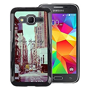 Red-Dwarf Colour Printing New York City Vignette Sepia Street - cáscara Funda Case Caso de plástico para Samsung Galaxy Core Prime SM-G360