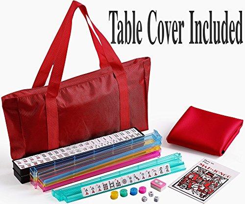 4 Pushers + Brand New 166 tile American / Western Mahjong Set in Waterproof Red Bag (mah Jong Mah Jongg Mahjongg)