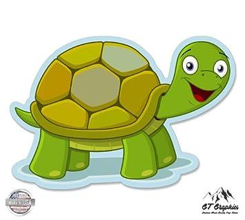 amazon co jp happy cartoon turtle ビニールステッカー防水デカール