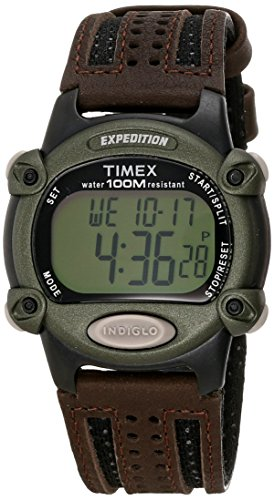 Timex Expedition Men's Digital Watch Brown Leather T48042