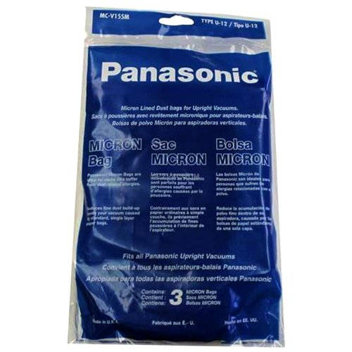 Panasonic MC-V155M Pan Style U12 Paper Bag (Pack of 3) (Panasonic Bag Paper)
