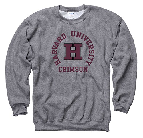 Campus Colors Harvard Crimson Adult NCAA Team Spirit Crewneck - Graphite, Medium