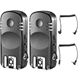 Neewer 2.4G Wireless Remote Flash Trigger Transceiver Pair with Remote Shutter Cable for Canon DSLR Cameras, Such as 1D Mark II III IV 5D Mark II III IV 1100D 1000D 700D 650D 600D 500D 450D 100D 60D
