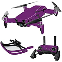MightySkins Skin for DJI Mavic Air Drone - Solid Purple | Max Combo Protective, Durable, and Unique Vinyl Decal wrap cover | Easy To Apply, Remove, and Change Styles | Made in the USA