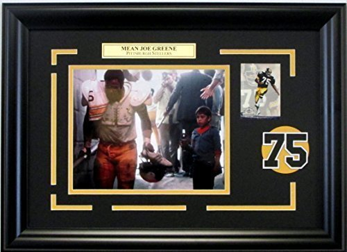 Mean Joe Greene Coke Commercial Steelers photo custom framed with raised number