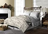 Pine Creek Lodge Comforter Set Including Shams - Premium Luxury Bed Spread, Rustic Southwestern Style Perfect for Hunters, Cabins and Lodges (Northway Junction, King)
