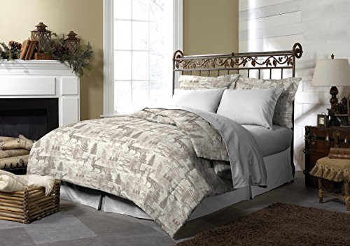 Pine Creek Lodge Reversible Comforter Set Including Shams - Premium Luxury Bed Spread, Rustic Southwestern Style Perfect for Hunters, Cabins and Lodges (Northway Junction, Full/Queen)