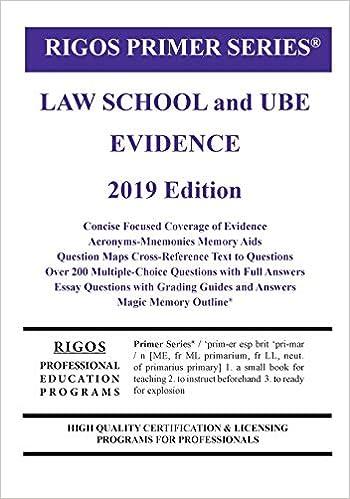 Primer Series Law School and Ube Evidence Primer - Livros na Amazon