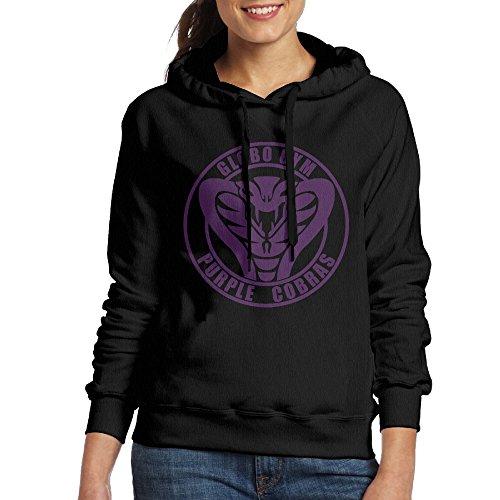 [Dodgeball Globo Gym Purple Cobras Women's Hoodie XXL Black] (Globo Gym Halloween Costumes)