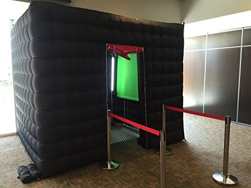 AmazingsportsTM One Door Black Inflatable Photo Booth For Hire For Rental For Party With LED Light And (Party Inflatable Rentals)