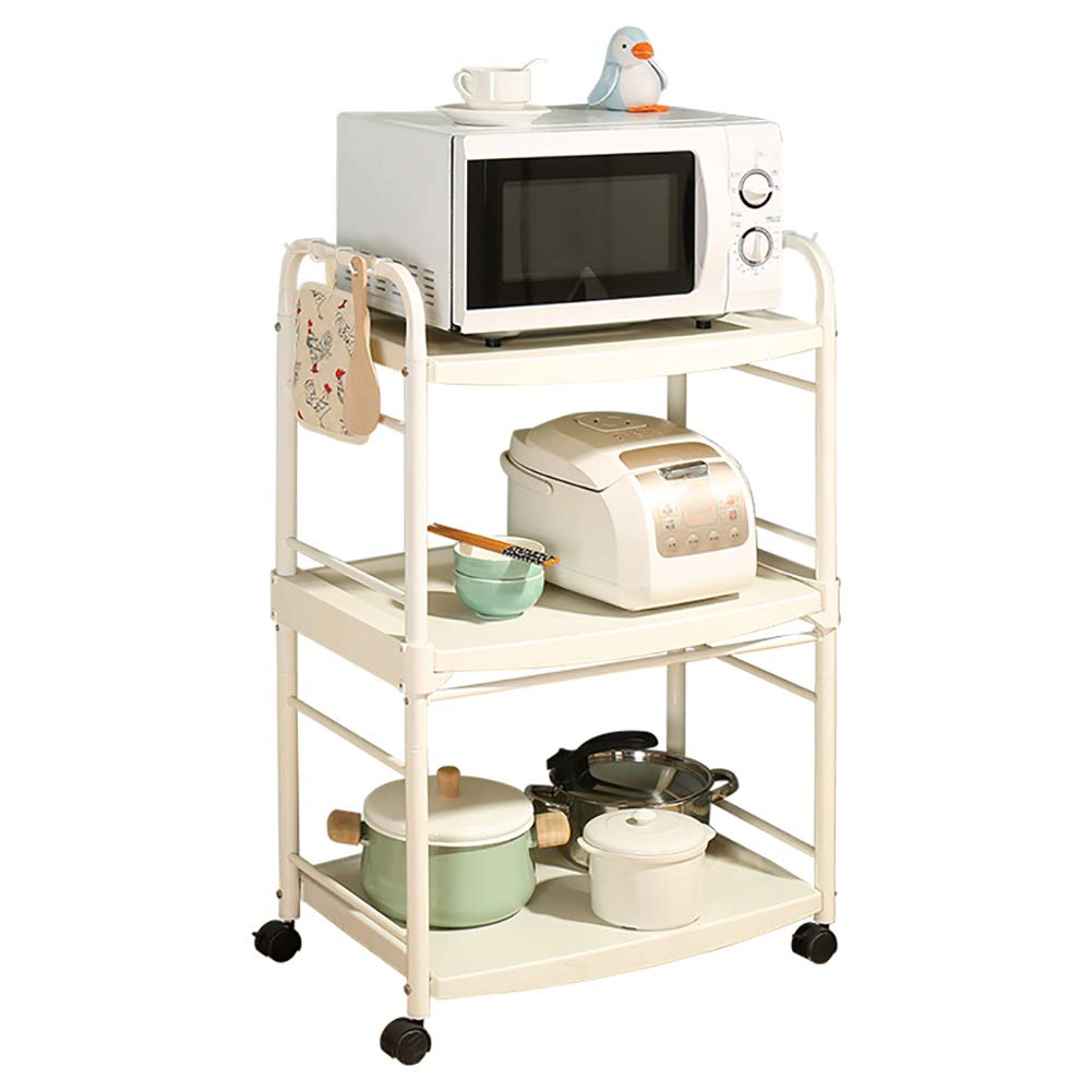 Kitchen Cart Plastic Multi-Layer, Storage Rack with Wheel Cart for Living Room Bathroom, Kitchen Household Items for Various Things by Kitchen Cart (Image #1)