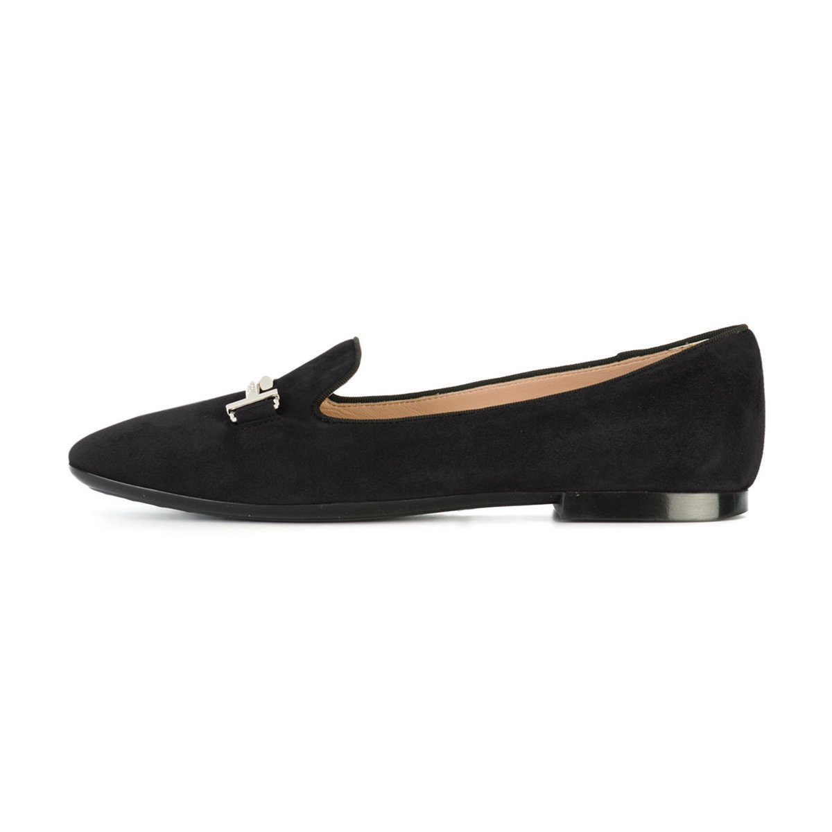 XYD Comfortable Low Heel Slip On Suede Flats Pointed Toe Ballet Loafer Dress Shoes for Women B0794SRH1K 8.5 B(M) US|Black
