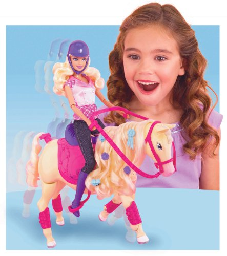 authorized site recognized brands new collection Barbie Mattel - T2705 - Poupée et Cheval Champion