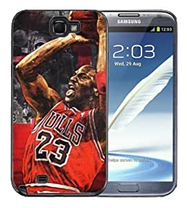 Pink Ladoo? Samsung Galaxy Note 2 Black Case - Michael Air Jordan 23 Chicago Bulls Legend