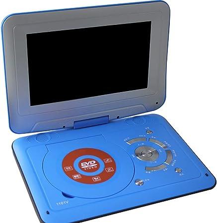 WXX Reproductor De DVD Portátil HD De 9 Pulgadas, Pantalla Giratoria De Alto Brillo Entrada AV/Salida AV/SD/USB/CD/DVD, Batería Recargable, con Un Pequeño Televisor De Cine,Azul: Amazon.es: Hogar