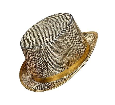 Sombrero de copa brillante color Oro  Amazon.es  Juguetes y juegos 759aace6707a