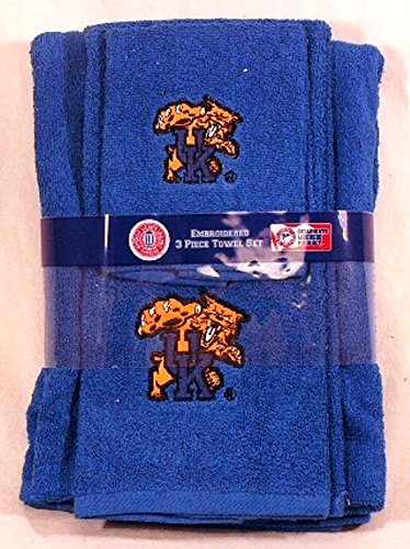 (Kentucky Wildcats 3 PC Embroidered Bath Towel Gift Set)
