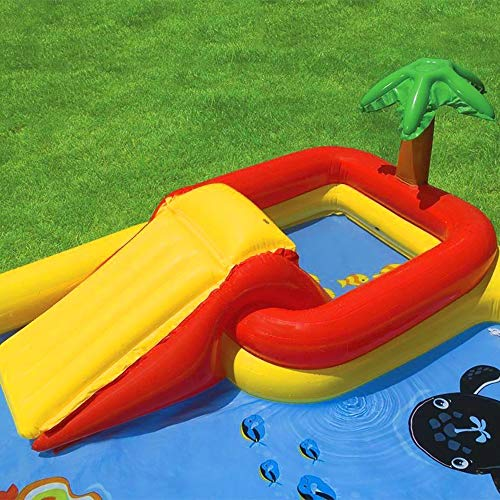 Intex Ocean Play Center Kids Inflatable Wading Pool + Quick Fill Air Pump by Intex (Image #1)