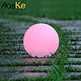 AosKe Floating LED Pool Glow Light Orb Ball Outdoor Living Garden Light Decor, Party, Pool, Patio, Waterproof Color Changing Ball (9.5-Inch)