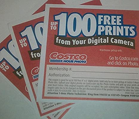amazon com costco coupons free 300 4 x 6 inches photo prints