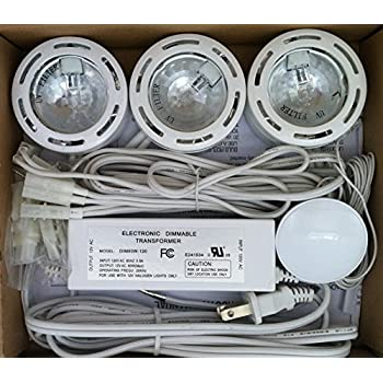 Under Cabinet Puck Light With 3 Level Touch Dimmer 12 Volt (Set Of 3 Lights)  White