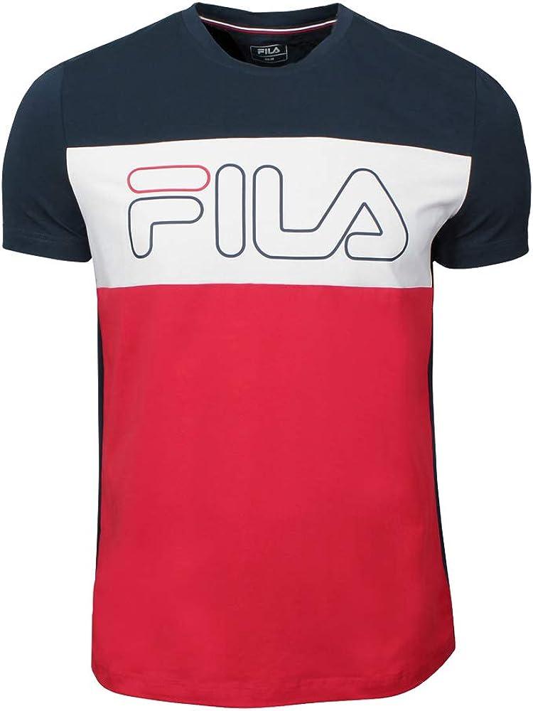 Fila Camiseta de los Hombres RUDI Rojo Azul Marino, Herren:L: Amazon.es: Ropa y accesorios