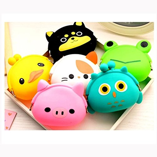 Girl Cute Cartoon Silicone Coin Purse Key Earphone Storage Bag Wallet - Pocket Entrepot Pocketbook Memory Board Cup Tea Udder Traveling Suitcase Storehouse - 1PCs ()