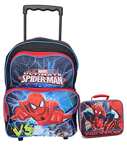 NEW Spiderman Large Rolling Backpack