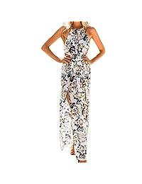 BOLUOYI 2019 Floral Dress For Women Beach Wear,Floral Swing Midi Dress,Midi Dresses For Women For Summer Womens Summer Print Boho Long Maxi Evening Party Beach Floral Dress