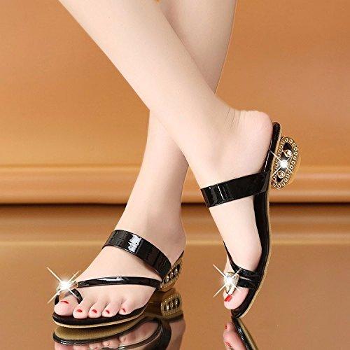 2018 de moda Aa y Zapatillas mujer zapatos black de nvliangxie agua Sandalias martillo nvvxRq0wFS