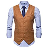 Waistcoat Vest for Men, iOPQO Business Tuxedo Vest Suits Jacket Blazer suit coat