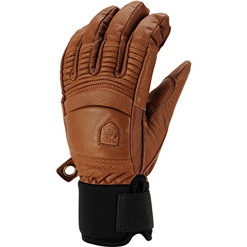 Hestra Men's Leather Fall Line 5 Finger Glove, Brown, Size 7 by Hestra