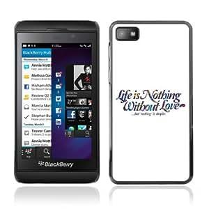 yoyoshop life amp love message blackberry z10 case amazon
