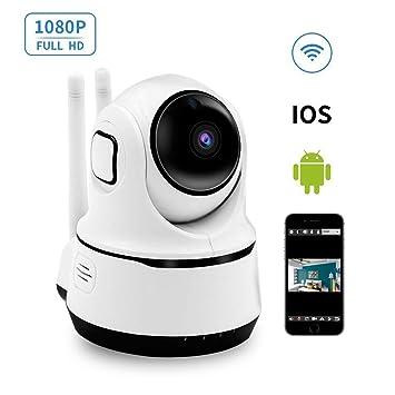 Cámara IP WiFi, LXMIMI HD 1080P Cámara de Vigilancia con Visión Nocturna,Detección de Movimiento,Audio de 2 Vías Cámara Seguridad y Inalámbrica Cámara ...
