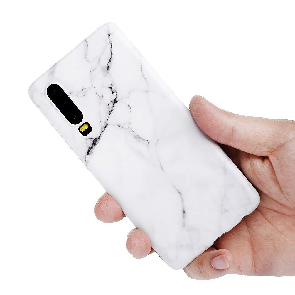 P30 Handyh/ülle Marmor Huawei P30 H/ülle Case Cover Silikon Matt Marble Muster Weiche Tasche Herren Damen Schutzh/ülle D/ünn Handytasche Skin Softcase Schale Bumper TPU Handycover Deckel-Meer