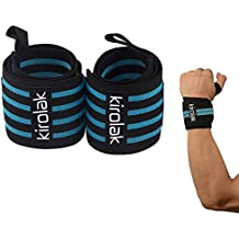KIROLAK Wrist Wraps Weight Lifting Gym Fitness Bodybuilding Elastic Support Braces Wraps Belt Training Wrist Support Loop Wraps for Men and Women