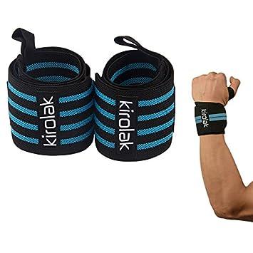 Wrist Wraps Levantamiento de pesas Calidad profesional de correas de muñeca Soporte, KIROLAK Fuerza de