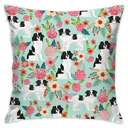 Zipper Throw Pillowcase Dog Pet Floral Polyester Home Throw Pillow Case Cushion Cover for Bed Sofa Office Chair Car Seat Kids Room - 16