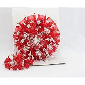 """Susaniita 12"""" inch Round Quinceañera Bouquet. 1442 36"""