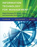 img - for Information Technology for Management: Digital Strategies for Insight, Action, and Sustainable Performance book / textbook / text book