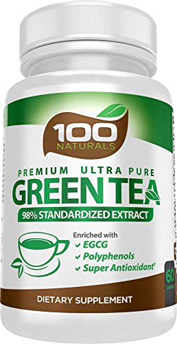 Premium Green Tea Extract Supplement for Weight Loss,Natural Fat Burner,Healthy Heart Support,Super Antioxidant,Natural Caffeine Source for Improved Energy (60 Capsules)500mg