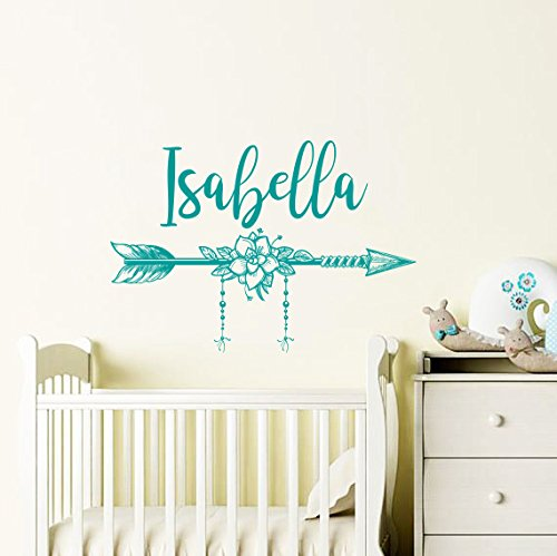 Girl Name Wall Decal Arrow. Wall Sticker Nursery Vinyl Art. Boho Wall Decor.  sc 1 st  Amazon.com & Amazon.com: Girl Name Wall Decal Arrow. Wall Sticker Nursery Vinyl ...