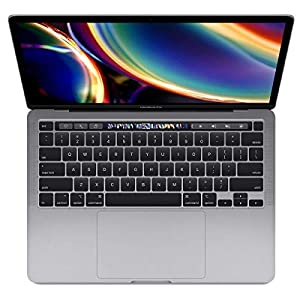 Apple 13″ MacBook Pro with Touch Bar, 10th-Generation Quad-Core Intel Core i7 2.3GHz, 16GB RAM, 512GB SSD, Space Gray (Mid 2020)