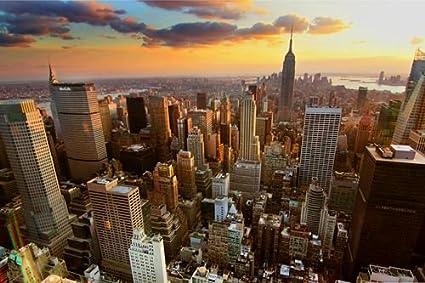 Antena View de la ciudad de Nueva York – Póster de Impresión ...
