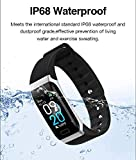 Richlieù L8STAR IP68 Waterproof Activity Fitness Tracker Smart Bracelet with Blood Pressure, Step Counter, Heart Rate and Sleep Monitor, 7 Sport Support with Bluetooth for Android and iOS
