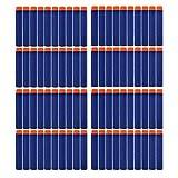 HMILYDYK Refill Darts 100Pcs Dart Refills Universal Standard Soft Round Head Foam Bullets for Nerf Toy Gun(Blue)